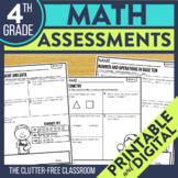 4th Grade  Math Assessments | Progress Monitoring | Quick Checks | Data Tracking