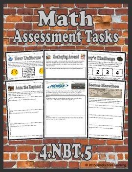 4.NBT.5 Math Assessment Tasks