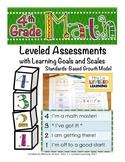 4th Grade Common Core Math Assessment with Marzano Scales!