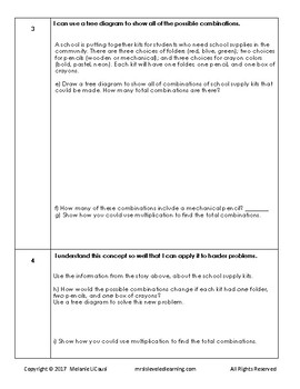 4th Grade Math Assessment with Learning Goals and Scales - Editable