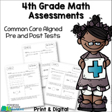 4th Grade Math Assessments {Pre and Post Tests} Distance Learning