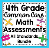 4th Grade Math Assessments: Fourth Grade Common Core Math Standards Bundle