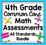 4th Grade Math Assessments: Fourth Grade Common Core Math Standards Bundle