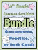 4th Grade Common Core Math Assessments - Bundle