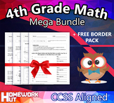 4th Grade Math Bundle ( 370 Pages /  CCSS ALIGNED )