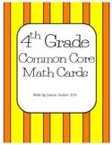 4th Grade Common Core Math Cards