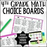 4th Grade Common Core Math Choice Boards {Bundle: All Standards}