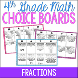 4th Grade Math Choice Boards {Fractions} Google Classroom