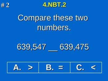 4th Grade Common Core Math - Compare Two Multi-Digit Numbe