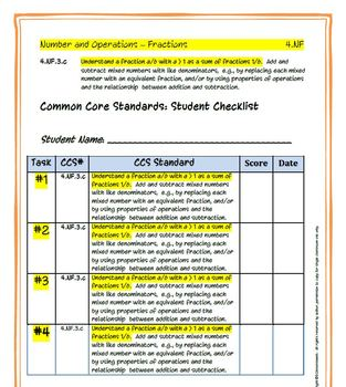 4th Grade Common Core Math: Constructed Response Assessment (CRA): 4.NF.3.c