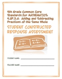 Constructed Response Assessment (CRA): 4.NF.3.d - 4th Grade Common Core
