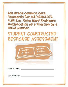 4th Grade Common Core Math: Constructed Response Assessmen