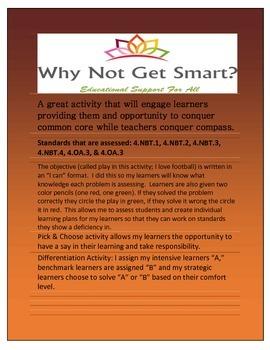 4th Grade Common Core Math Critical Thinking & Test Prep (