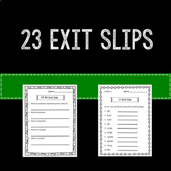 Math Exit Slips or Assessments for the Beginning Year 4th Grade Common Core