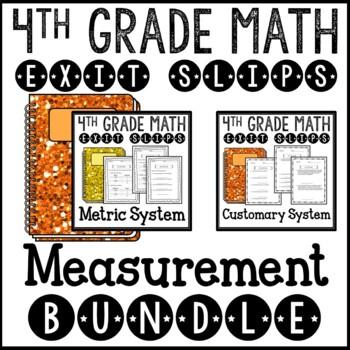 Math Exit Slips Assessments Measurement 4th Grade Common Core