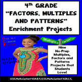 4th Grade Factors and Multiples Projects + Patterns & Vocabulary