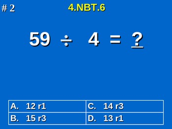 4th Grade Common Core Math - Find Whole-Number Quotients and Remainders 4.NBT.6
