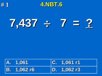 4th Grade Common Core Math - Find Whole-Number Quotients a