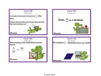 4th Grade Game/Task Cards - Fractions Set 1