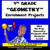 4th Grade Geometry Enrichment Projects, Vocabulary Handout!