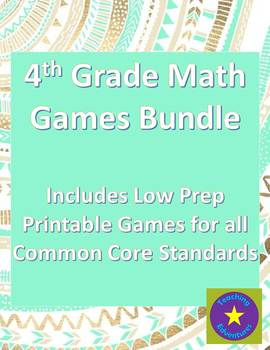 4th Grade Common Core Math Game Bundle of 50 Games