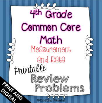 4th Grade Math Review or Homework Problems {Measurement and Data}