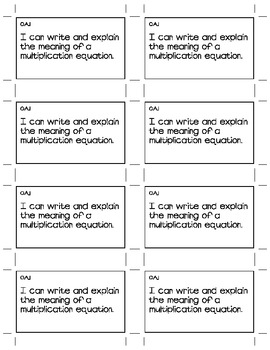 4th Grade Common Core Math I Can Statements for Student Journals