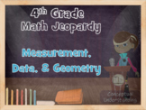 4th Grade Common Core Math Jeopardy:  Measurement, Data, and Geometry
