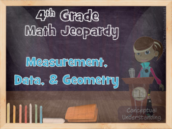 4th grade common core math jeopardy measurement data and geometry. Black Bedroom Furniture Sets. Home Design Ideas