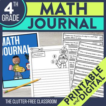 4th Grade Math Journal Prompts | Math Journals | 4th Grade Math Centers | CCSS