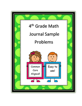 4th Grade Common Core Math Journal Problems