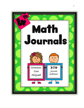 4th grade math journal