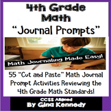 4th Grade Math Journal Prompts and Activities for Every 4th Grade Standard!