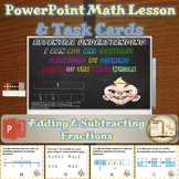 Adding and Subtracting Fractions (4.NF.3.a) - Math Lesson and Task Cards