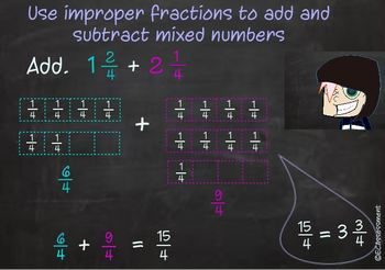 4th Grade Common Core Math Lesson: 4.NF.3.c:Adding and Subtracting Mixed Numbers