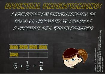 Common Core Math Bundle:4.NF.4:Multiplying Fractions by a