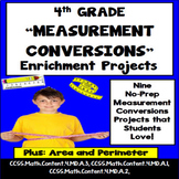 4th Grade Measurement Conversion Projects, Vocabulary Handout