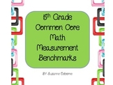 4th and 5th Grade Common Core Math Measurement Benchmarks