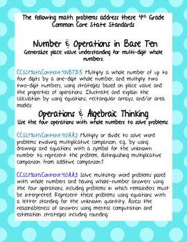 4th Grade Common Core - Math Multiplication Worksheets Go