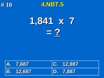 4th Grade Common Core Math - Multiply Multi-Digit Whole Numbers 4.NBT.5
