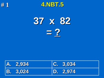 4th Grade Common Core Math - Multiply Multi-Digit Whole Nu