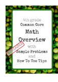 4th Grade Common Core Math Overview with Learning Targets