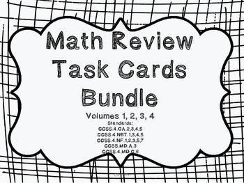 4th Grade Common Core Math Review Bundle (4 task card sets)
