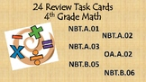 4th Grade Common Core Math Review Task Cards