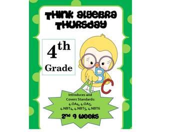 4th Grade Common Core Math Review:  Think Algebra Thursday