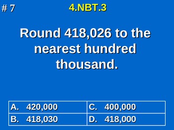 4th Grade Common Core Math - Round Multi-Digit Whole Numbers  4.NBT.3