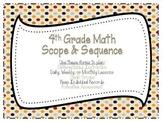 4th Grade Common Core Math Scope and Sequence