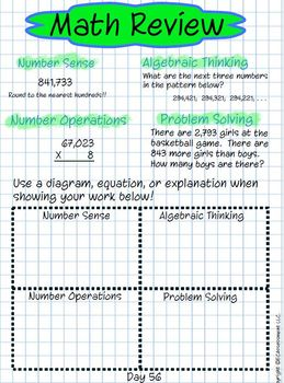 4th Grade Common Core Math Spiral Review