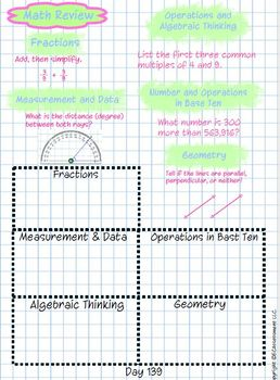 4th Grade Common Core Math Spiral Review