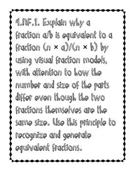 4th Grade Common Core Math Standard Posters